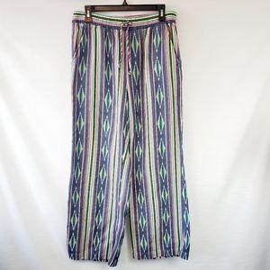 Ariat Dusty Print Wide Leg Pull On Pant Medium